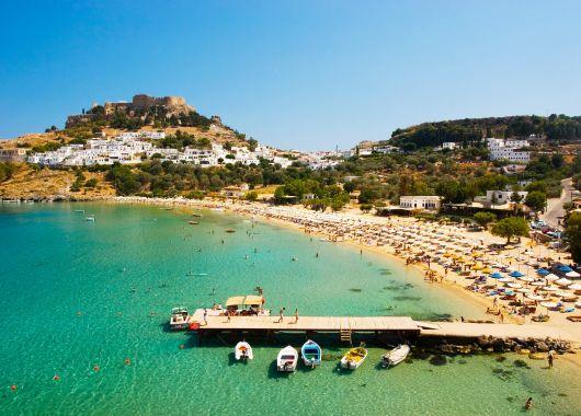 1 Woche Rhodos im April: 4* Hotel inkl. Halbpension, Flug, Transfer und Rail&Fly ab 346€