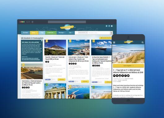 Reisedeals.com mit neuem Design!