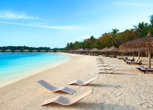 Mai – Juni: 8 Tage Malediven im 4* Resort mit All In, Flug, Rail&Fly und Transfer ab 1215€