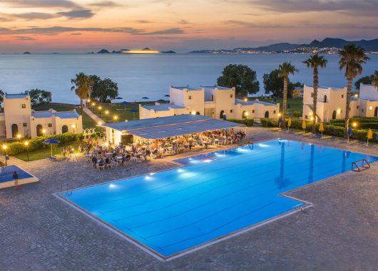 7 Tage Kos im sehr guten 4* Hotel inkl. Flug, Halbpension, Transfer und Rail&Fly ab 415€