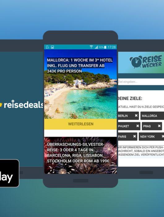 NEU: Reisedeals-App – die aktuellen Urlaubsangebote für dein Smartphone