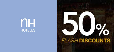 NH Hotels Flash Discount: 50% Ermäßigung auf Hotels in Wien, Heidelberg, Genf, Berlin, Mailand…