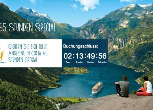 Costa: Nordeuropa-Kreuzfahrten 65 Stunden lang günstiger buchen