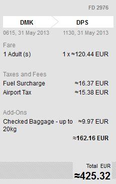 Bei Air Asia werden beispielsweise die Gebühren für das Gepäck erst im letzten Schritt vor der Buchung angezeigt.
