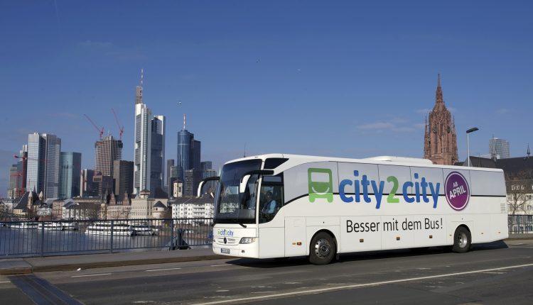 city2city: Fernbusfahrten für 8 Euro