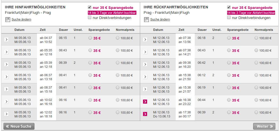 35 euro ab frankfurt
