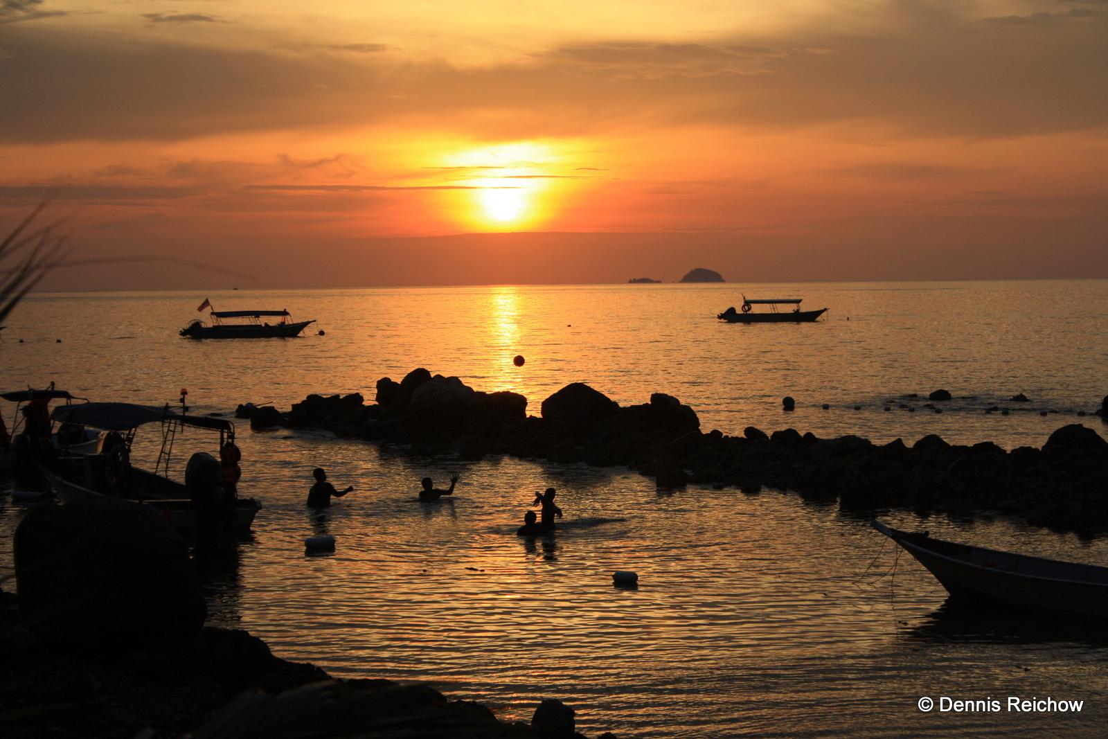 Tauchen in Südostasien - Der Sonnenuntergang auf Tioman