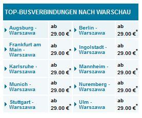 eurolines warschau