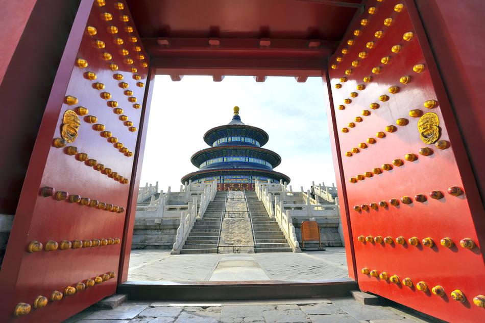 China Tempel Tor Asien Thailand Eingang