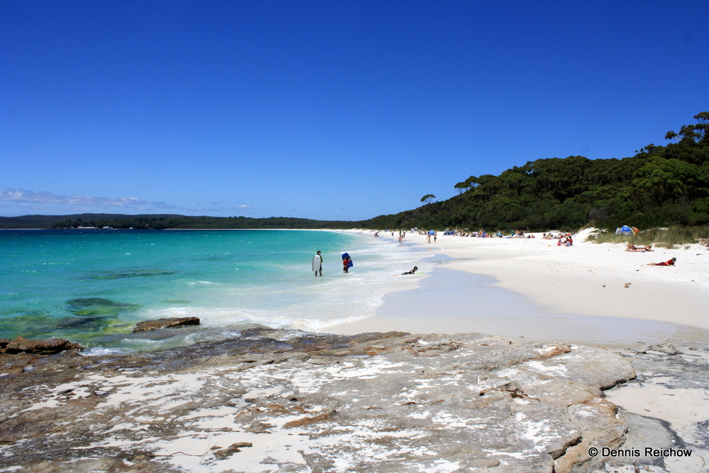 Hyams Beach in der Nähe des Nationalparks Jervis Bay