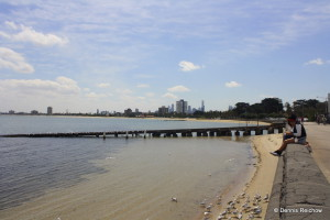 St. Kildas Beach in Melbourne