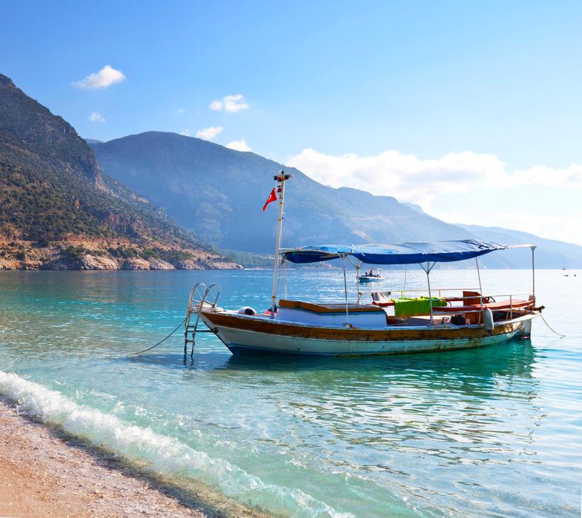 Boot Türkei Strand Küste Meer
