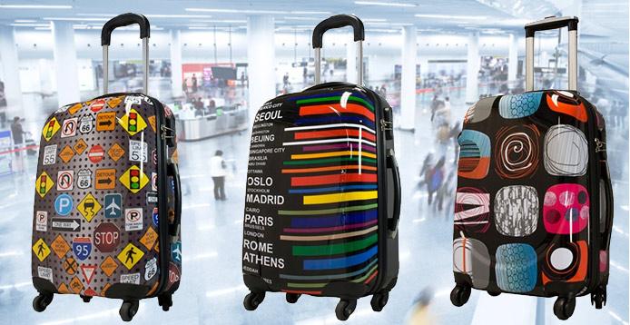 ABS Koffer und Koffersets – verschiedene Modelle mit coolen Motiven ab 39,95 Euro bei Groupon.de