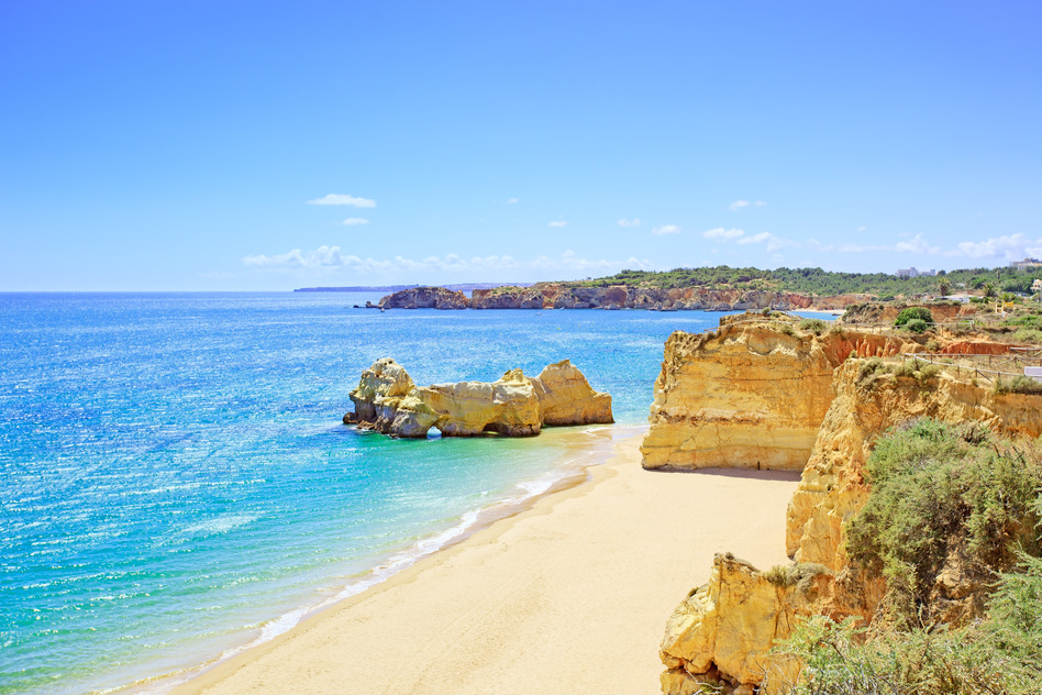 Algarve Portugal Küste Strand Felsen Meer
