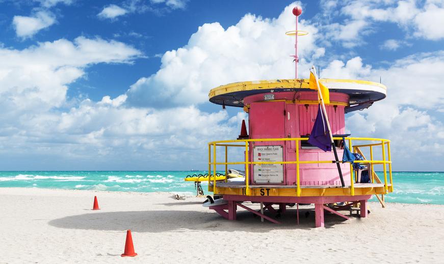 Miami Florida Beach Lifeguard Strand USA Amerika
