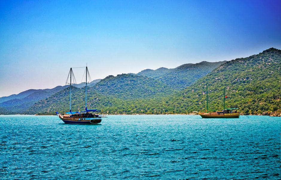 Türkei Meer Boot Schiff Küste