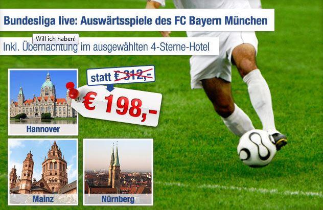 Bundesliga Auswartsspiele Des Fc Bayern Munchen Inkl 2 Tickets Und