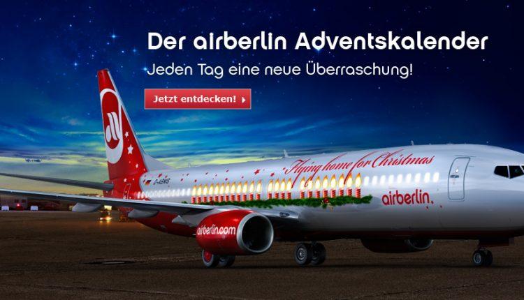 airberlin Adventskalender Türchen 6: Deutschlandweit Hin- und Rückflug ab 98 €