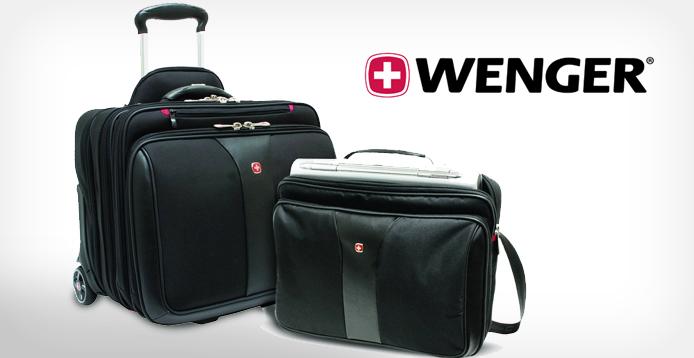 Wenger Notebooktrolley Patriot mit 4 Fächern und zusätzlich herausnehmbarer Notebooktasche (15,4″) für 89€