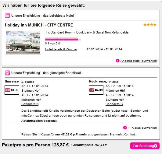 Stadtereise Munchen Bahn Und Hotel