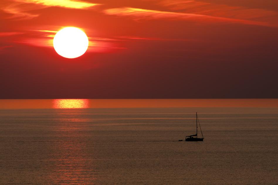 Alanya Türkei Sonnenuntergang Meer
