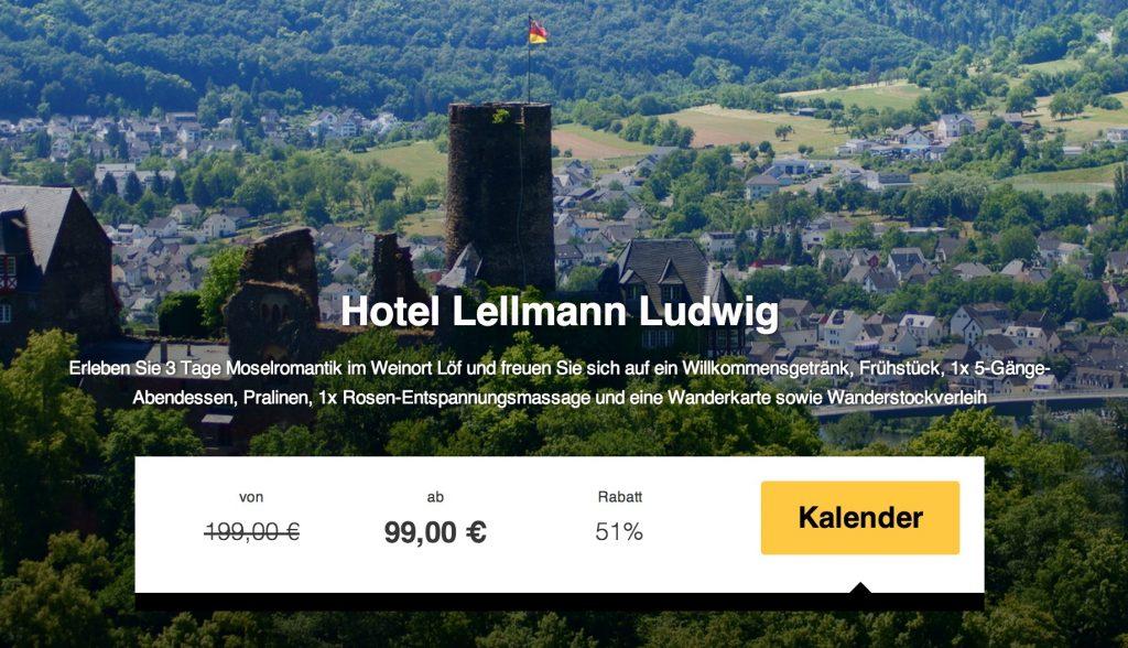 Romantischer Urlaub an der Mosel: 3 Tage inkl. Halbpension ab 99 ...