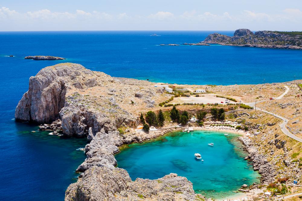 St Paul's Bay Rhodos Griechenland