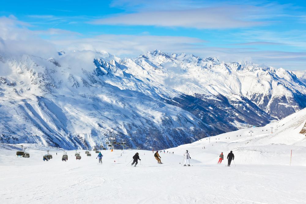 Ski Snowboard Alpen Berge Schnee