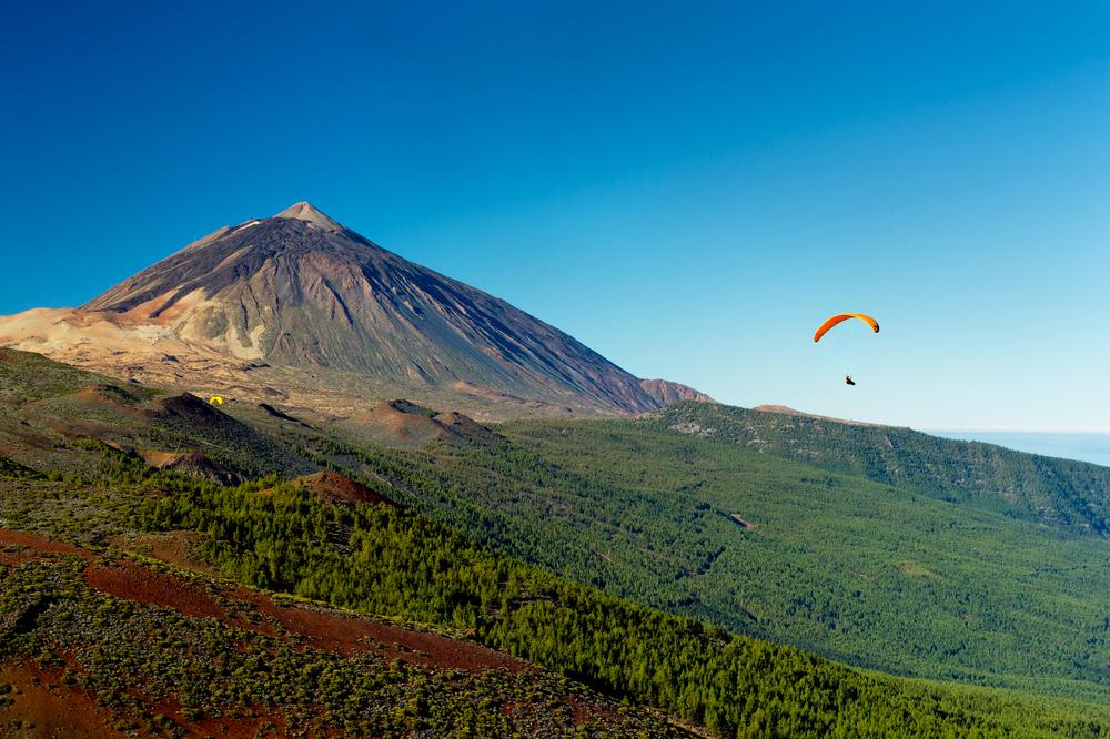 Paraglider Teide Teneriffa Kanaren