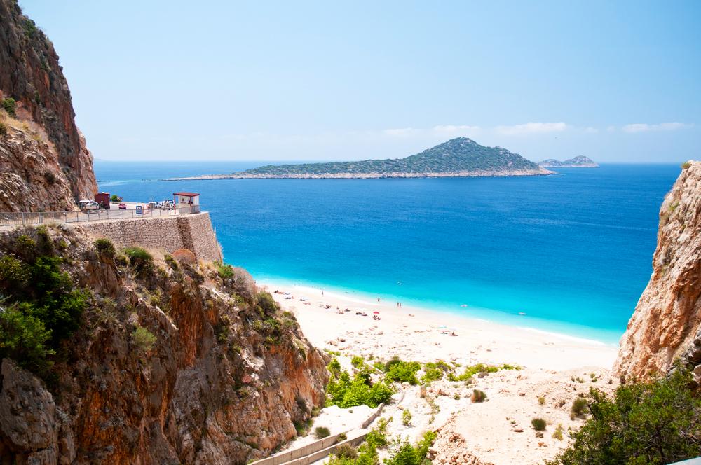 Türkei Strand Küste Kaputas beach Kas Kalkan