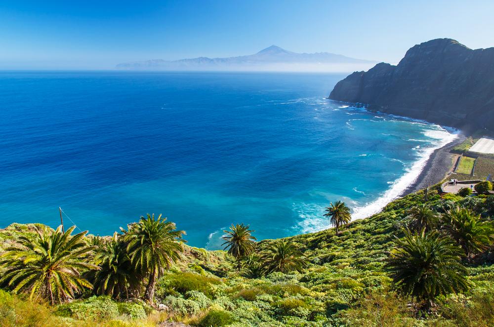 Santa Catalina Teneriffa Kanaren, Blick auf La Gomera