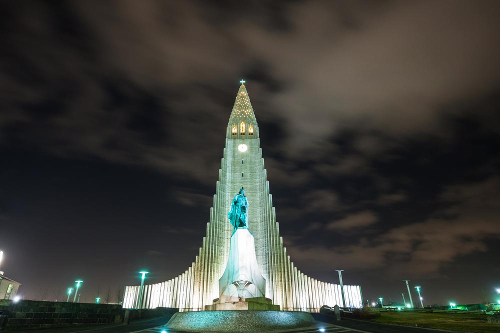 Island Hallgrimskirkja Kirche Reykjavik