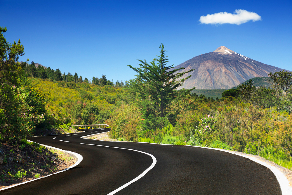 Teneriffa Kanaren Straße Vulkan Pico del Teide