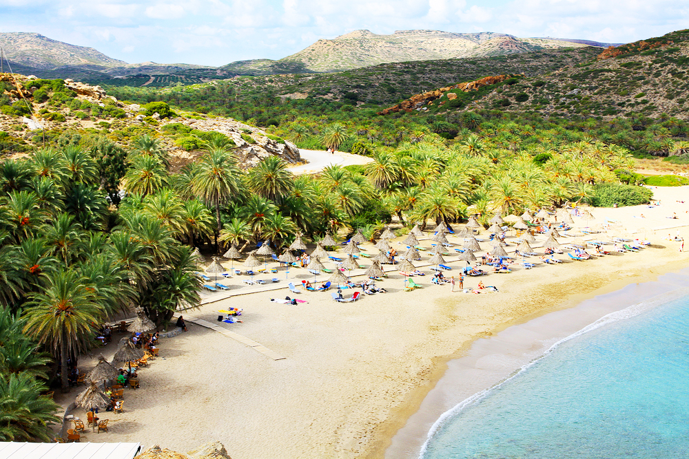 Kreta Vai Beach Palmenstrand in Europa