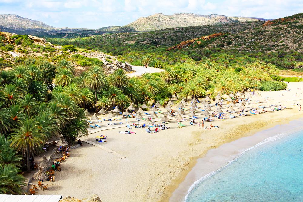 Kreta Vai Beach Palmenstrand in Europa