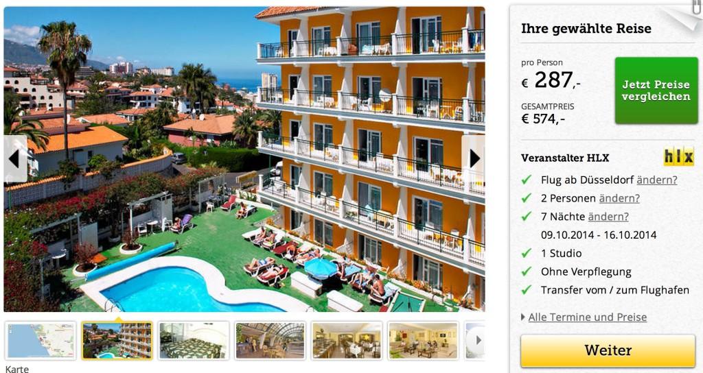 Pauschalreise Teneriffa Hotel La Carabela Puerto De La Cruz