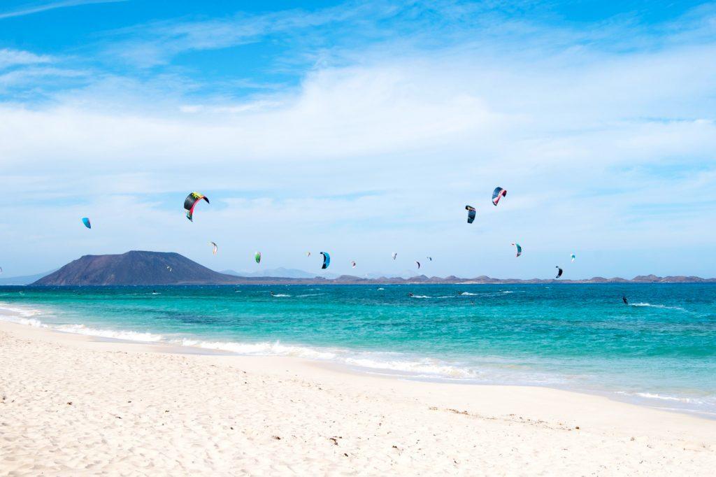 Fuerteventura Kanaren Strand Kite Gran Canaria Teneriffa