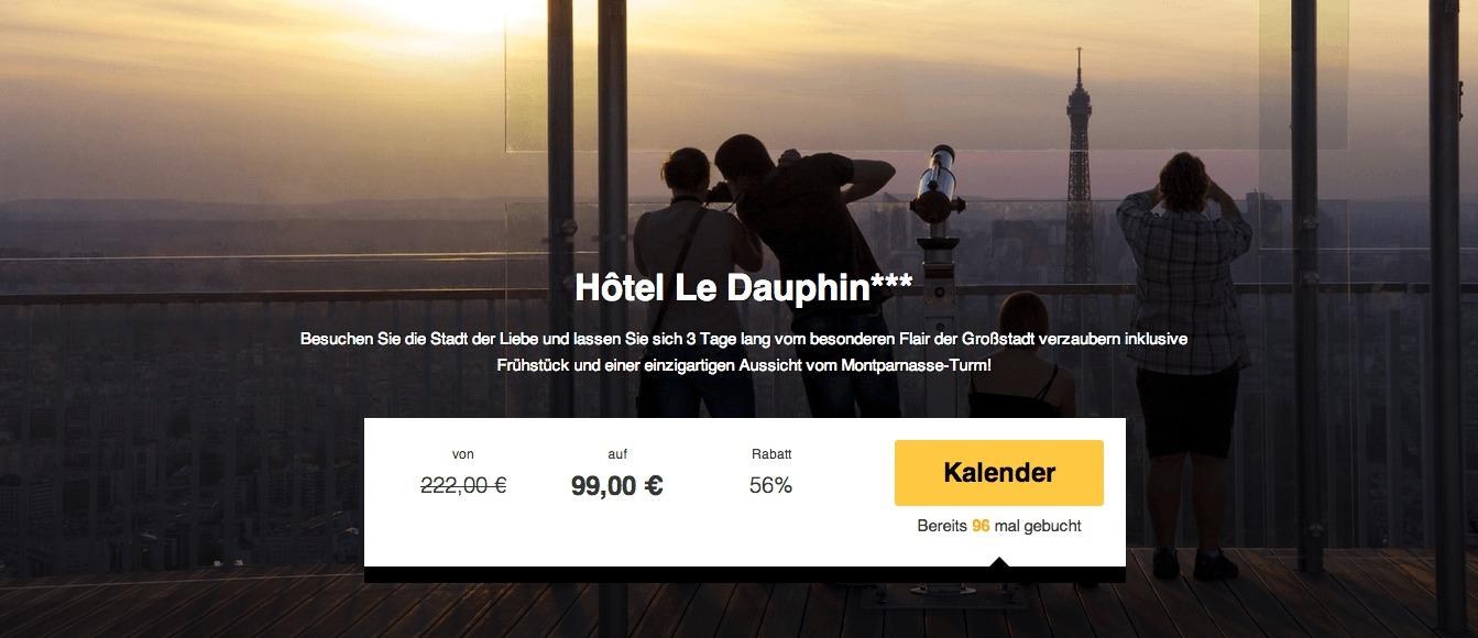 3 Tage Paris Im Sehr Guten 3 Hotel Mit Fr 252 Hst 252 Ck Und Ticket F 252 R Den Montparnasse Turm F 252 R 99