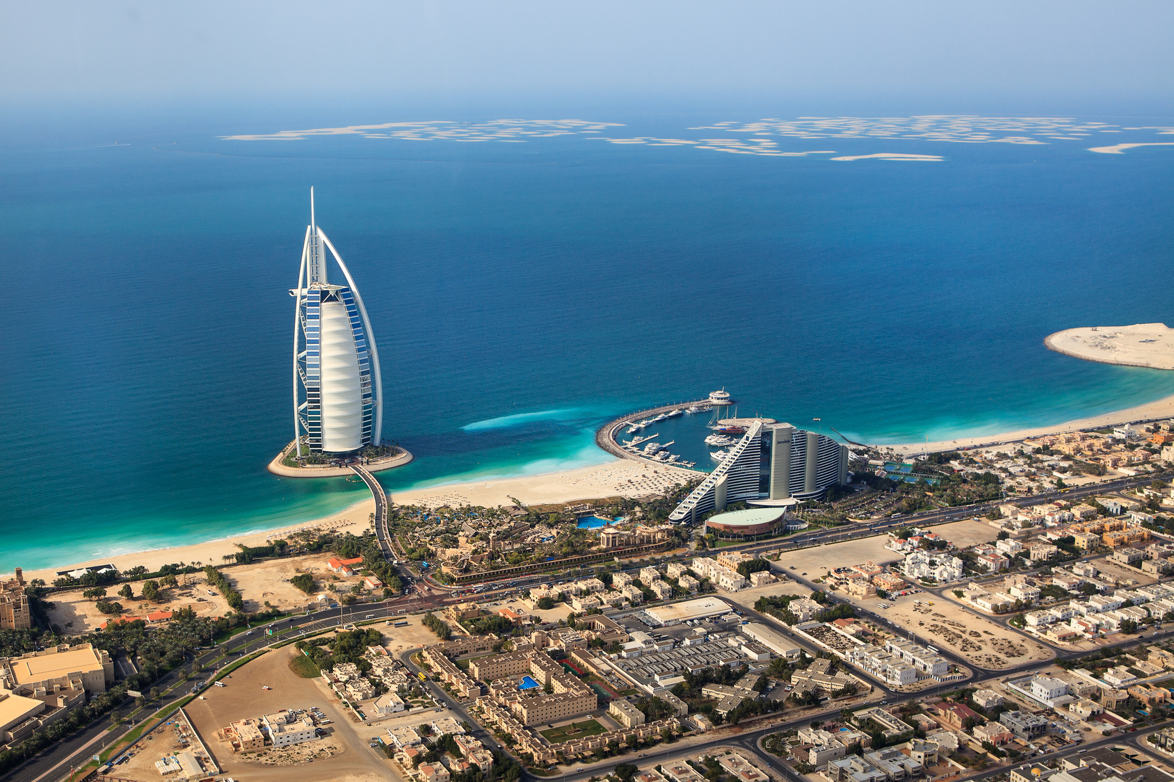 Burj Al Arab from above Dubai