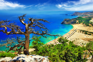 fantastic beaches of Greece, Rhodes island