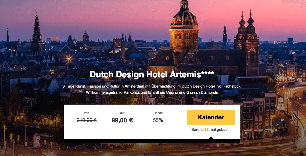 3 tage amsterdam im 4 design hotel mit fr hst ck f r 99 for 4 design hotel artemis