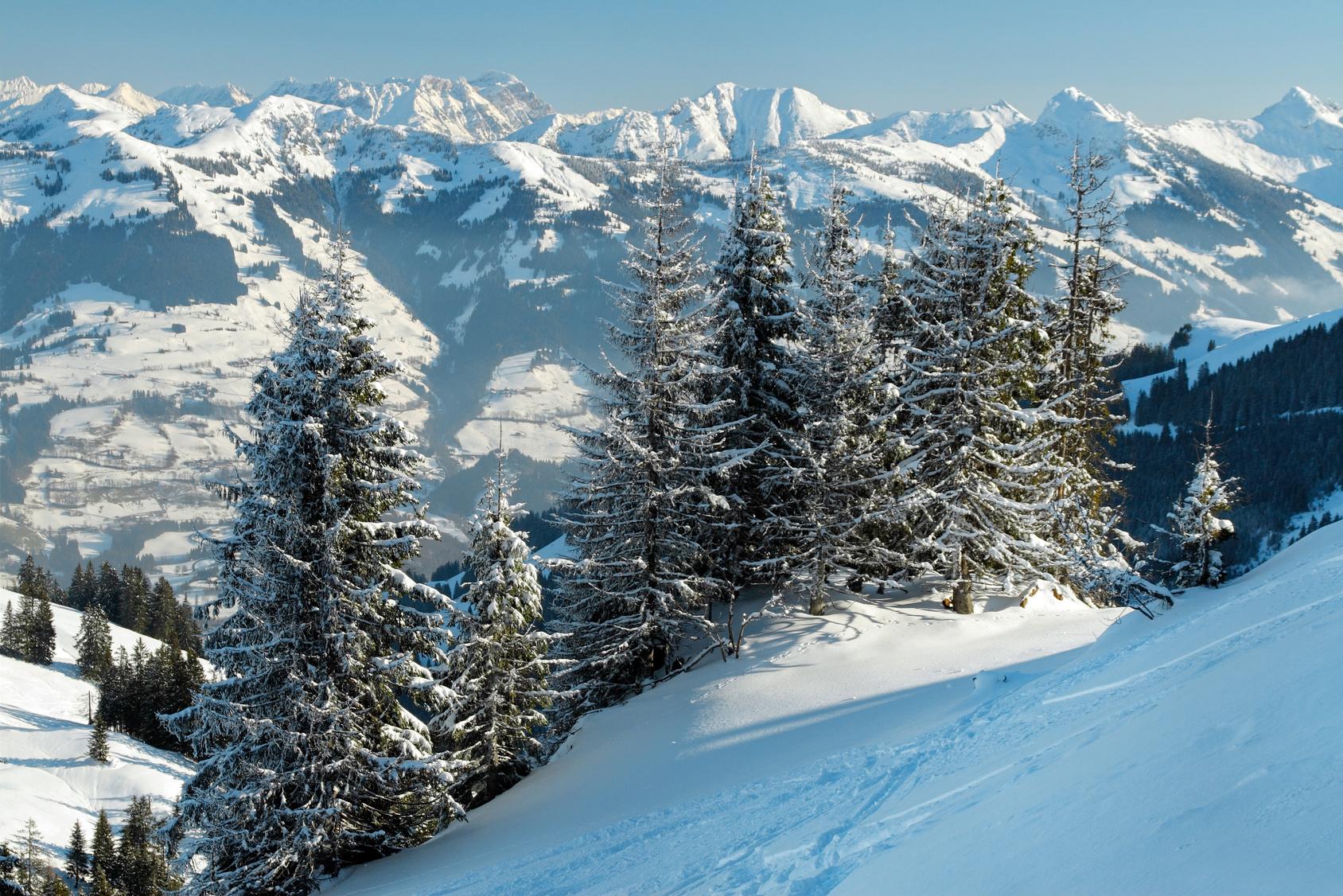 Schnee Winter Berge Alpen Ski