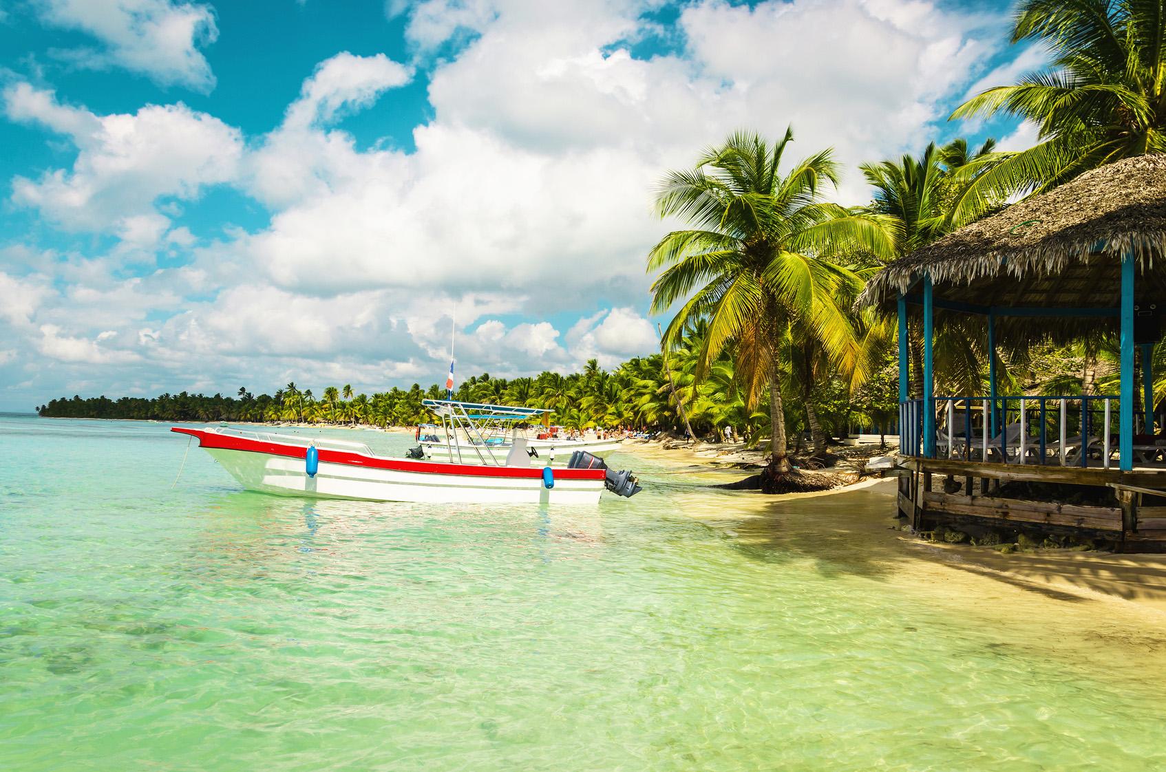 Karibik Palmen Strand Palmenstrand Jamaica Jamaika Dom Rep Dominikanische Republik
