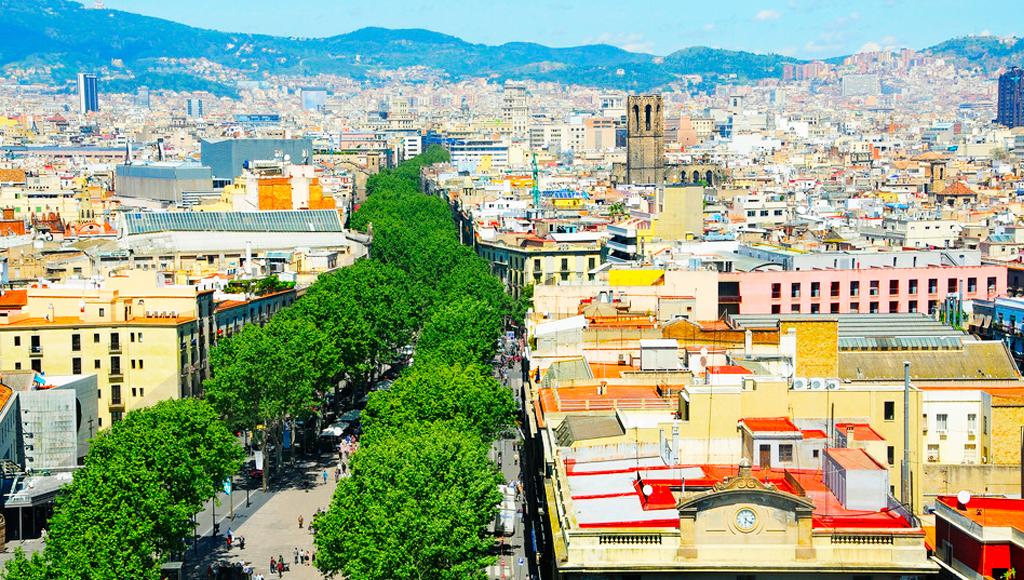 barcelona rambla oben