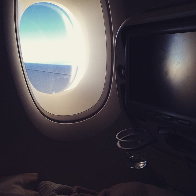 Über dem Atlantik im A380 der Singapore Airlines