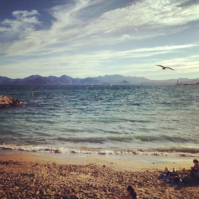 Sandstrand in Cannes