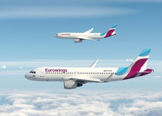 Eurowings: Viele reduzierte Tickets für Flüge innerhalb Europas ab 19,99€