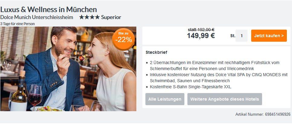 Städtetrip für Singles: 3 Tage München im 4* Hotel mit Frühstück, S ...