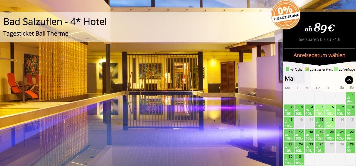 3 Tage Wellness In Bad Salzuflen 4 Hotel Inkl Fr 252 Hst 252 Ck