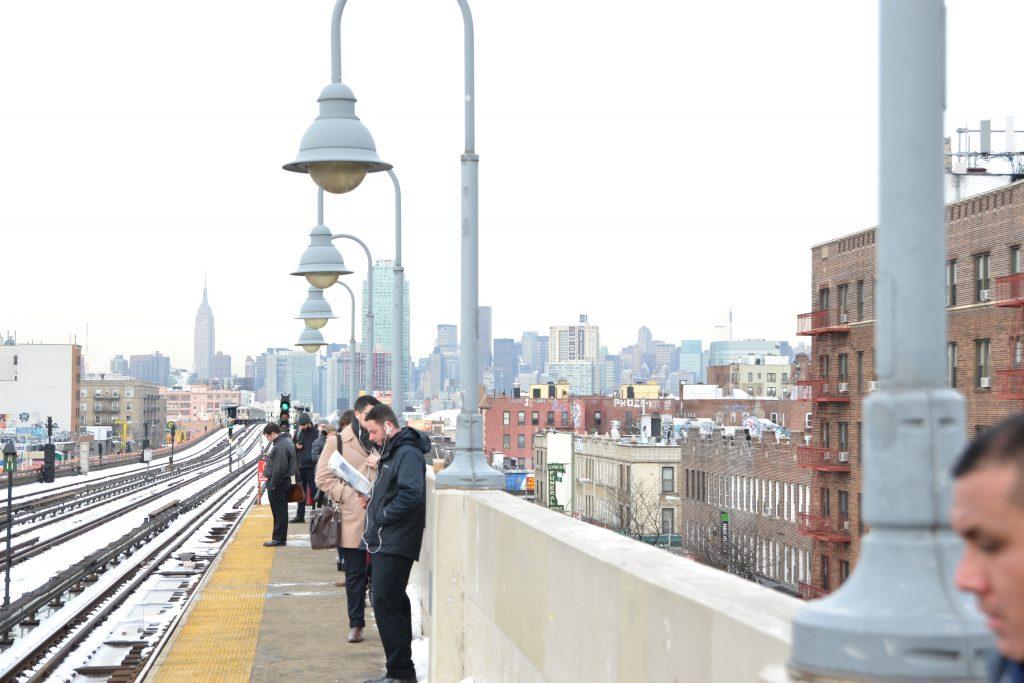So ganz da hinten in der Ferne könnt ihr Manhattan schon erkennen